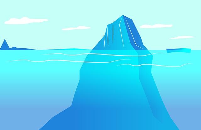 In een samengesteld gezin zitten veel emoties onder de oppervlakte zoals bij een ijsberg.